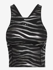 adidas by Stella McCartney - Print Crop Top W - crop tops - black/silvmt - 1