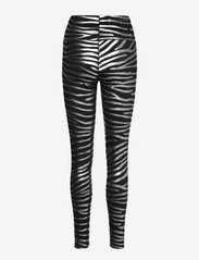 adidas by Stella McCartney - Metallic Print Tights W - tights & shorts - black/silvmt - 2