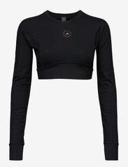 adidas by Stella McCartney - TrueStrength Yoga Crop Top W - crop tops - black - 1