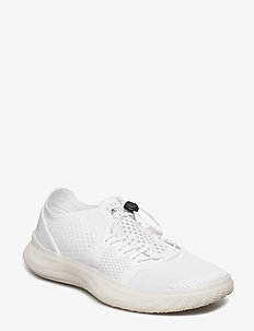 PureBOOST TRAINER S. - training shoes - ftwwht/cblack/vivgrn