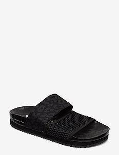STELLA-LETTE - flate sandaler - cblack/utiblk/ftwwht