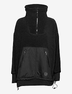 FLEECE SWEAT - mellomlag i fleece - black