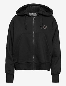 Full-Zip Cropped Hoodie W - sweatshirts & hoodies - black