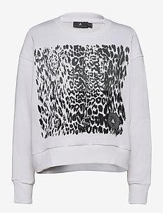 GRAPHIC SWEAT - sweatshirts - white