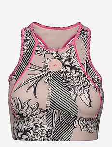TruePurpose Allover Print Crop Top - navel shirts - pnktin/multco