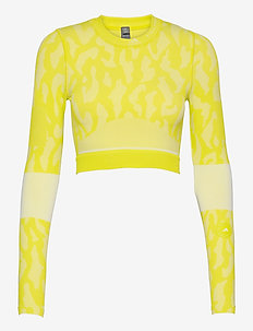 TruePurpose Seamless Crop Top W - oberteile & t-shirts - aciyel/white