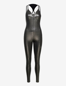 All-in-One Shiny Bodysuit W - tights & shorts - silvmt/black