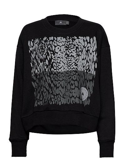 Graphic Sweat Sweat-shirt Pullover Schwarz ADIDAS BY STELLA MCCARTNEY