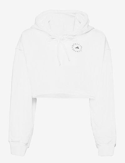 Future Playground Cropped Hoodie W - sweatshirts & hoodies - white