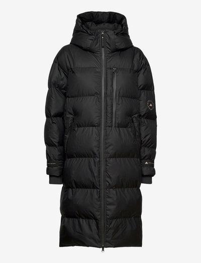 Long Puffer Jacket W - dunkåper - black