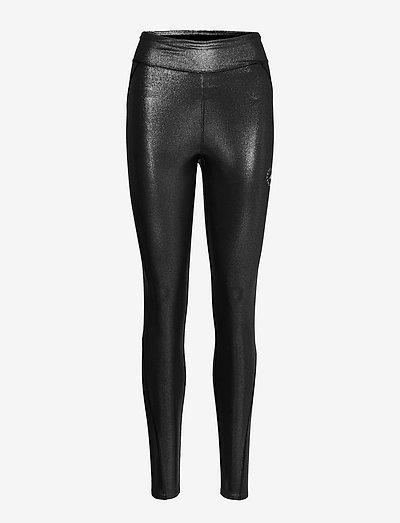 Shiny Training High Waist Tights W - tights & shorts - silvmt/black