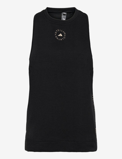 Cotton Tank Top W - sleeveless tops - black