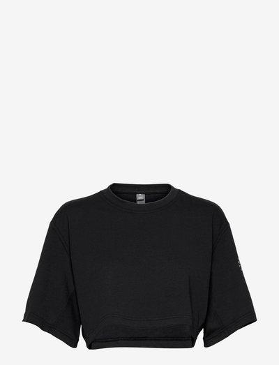 Future Playground Cropped Tee W - tops & t-shirts - black/sofpow