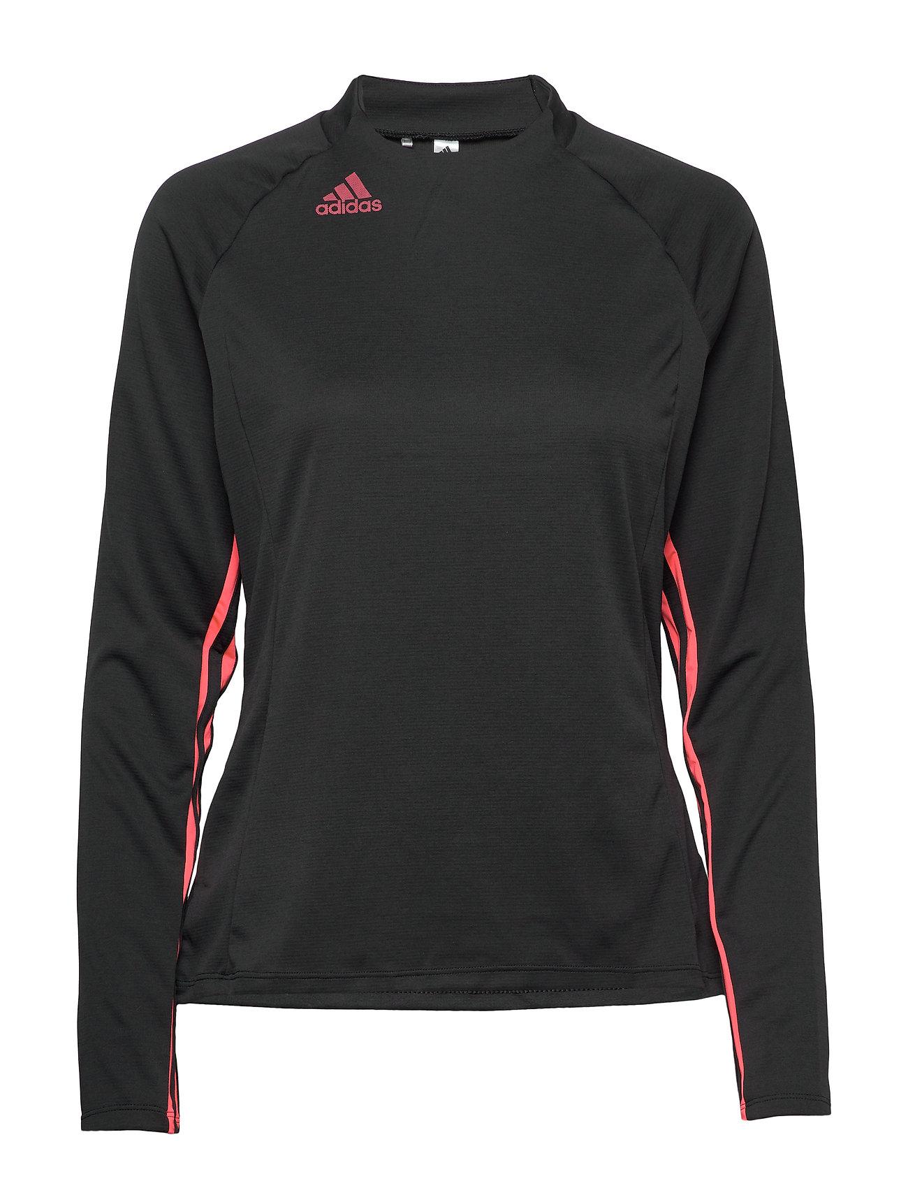 adidas Golf UPF MOCK LS - BLACK