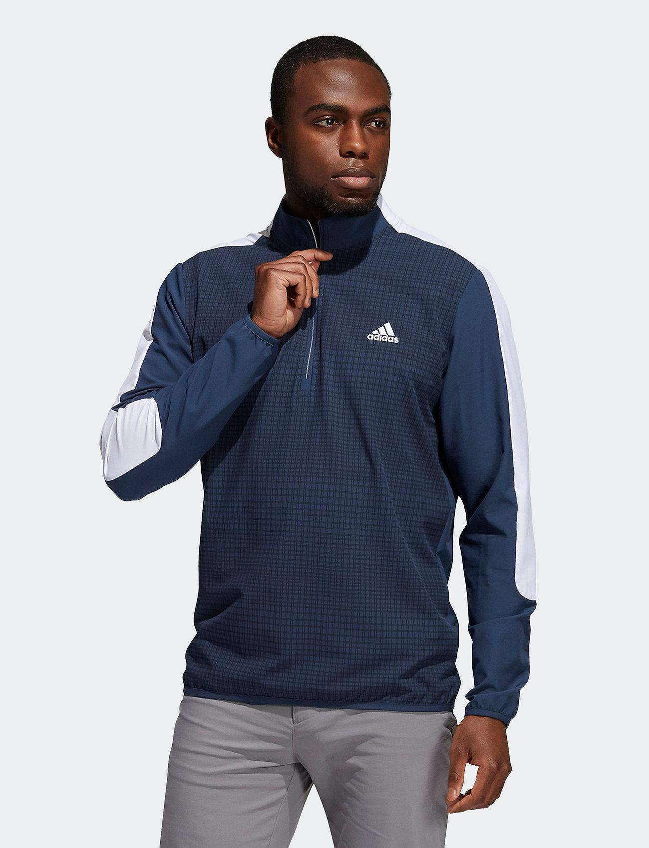 adidas Golf - PRINT 1/4 ZIP - sweats - crenav/black - 0