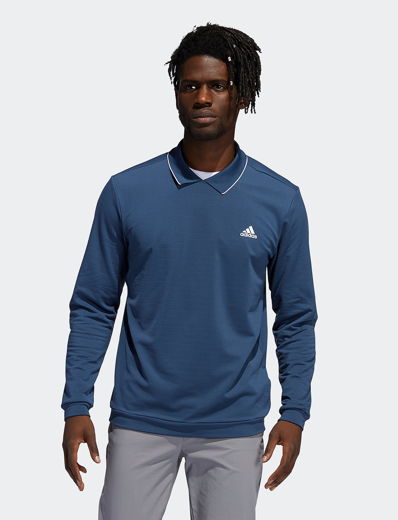 adidas Golf - LS THERMAL POLO - polos à manches longues - crenav - 0