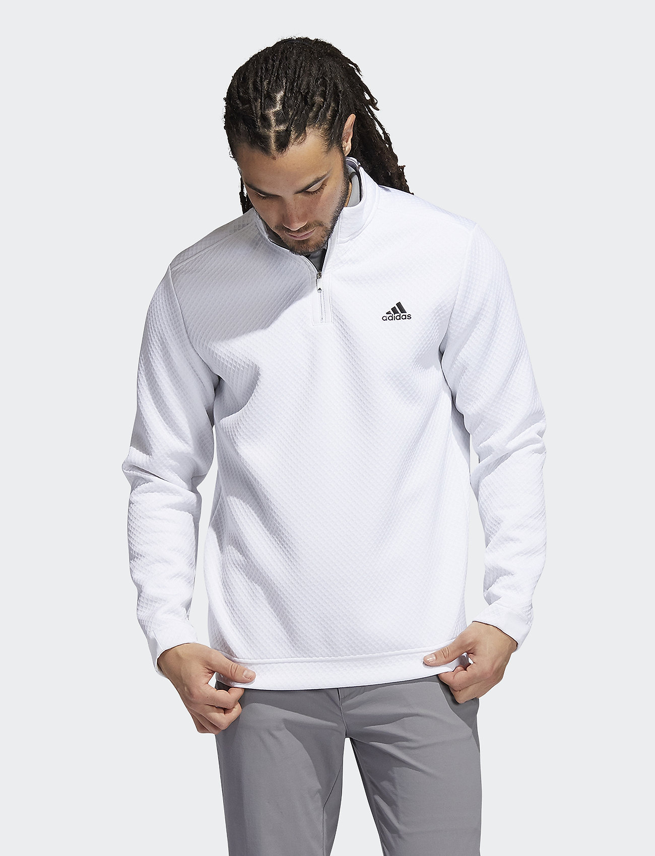 adidas Golf - DWR 1/4 ZIP - sweats - white - 0