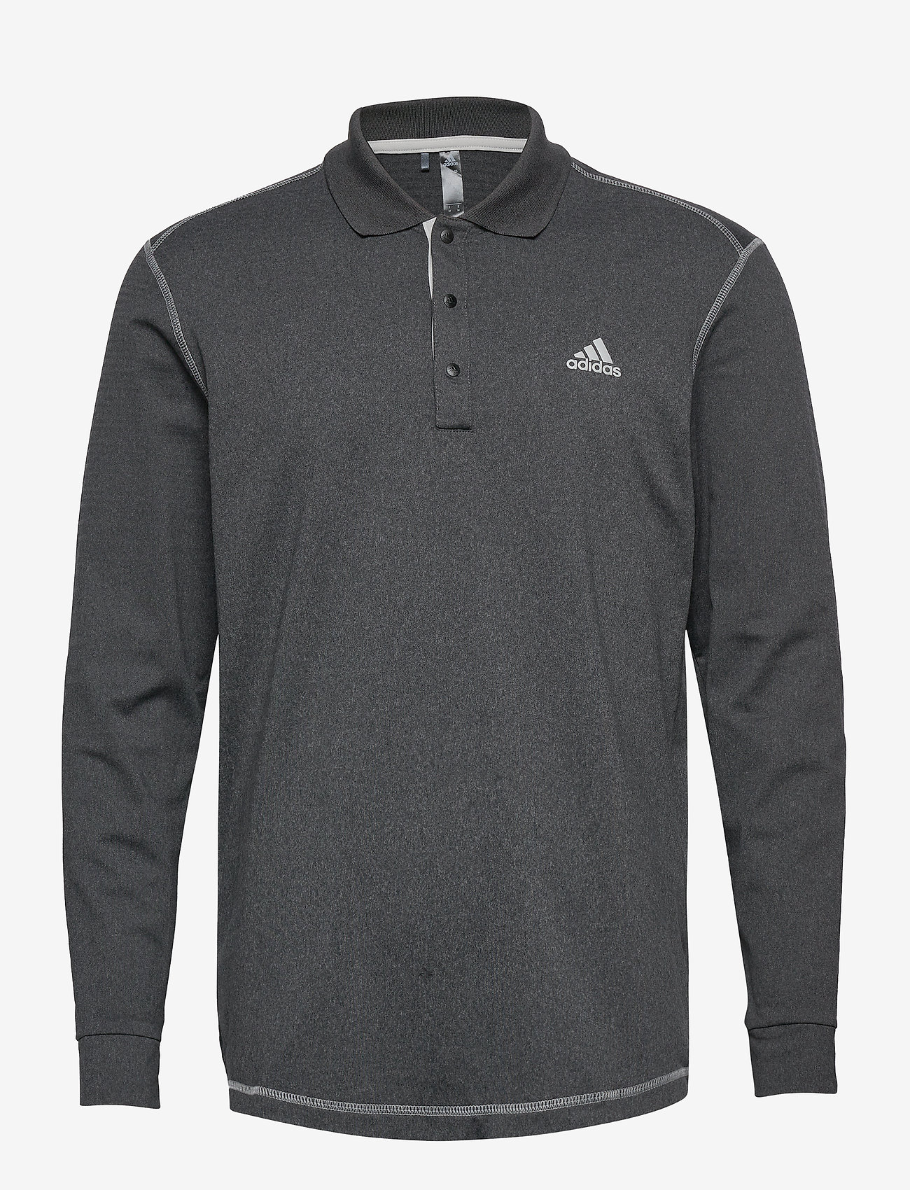 adidas Golf - LS THERMAL POLO - paidat - blkhea - 0