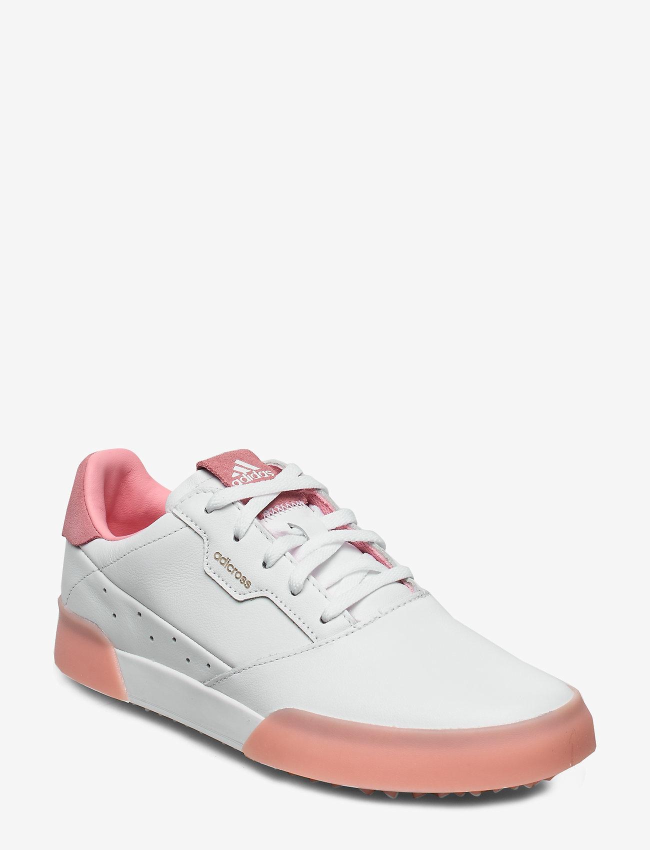 adidas Golf - W ADICROSS RETRO - golf shoes - ftwwht/glopnk/ftwwht - 0