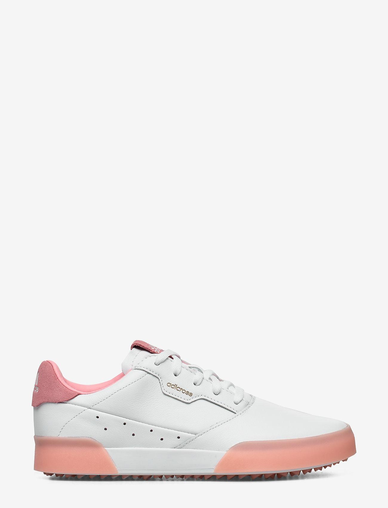 adidas Golf - W ADICROSS RETRO - golf shoes - ftwwht/glopnk/ftwwht - 1