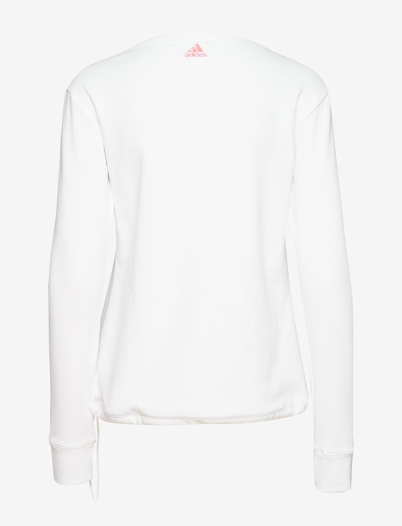 adidas Golf - LS GRPHIC SWTSH - sweatshirts - white - 1
