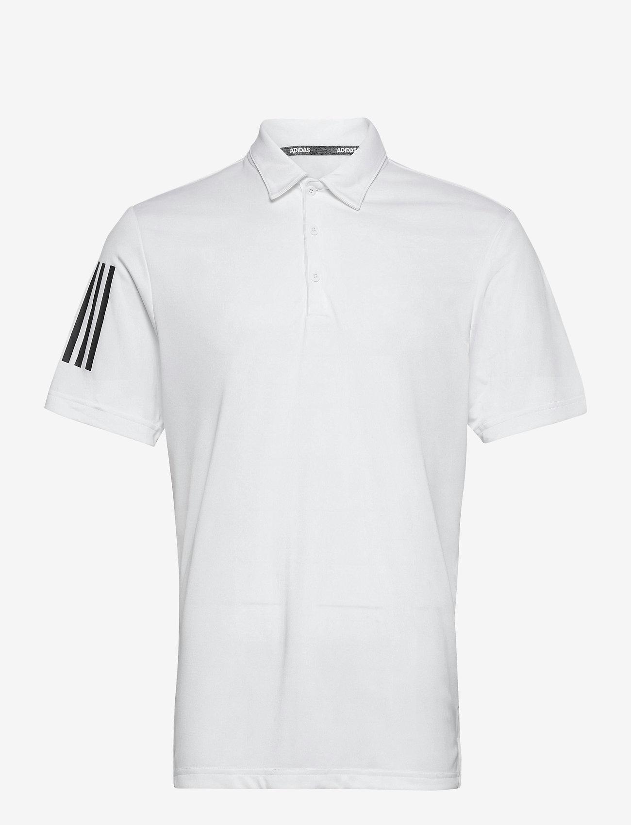 adidas Golf - 3-Stripe Basic - kurzärmelig - white/black - 0