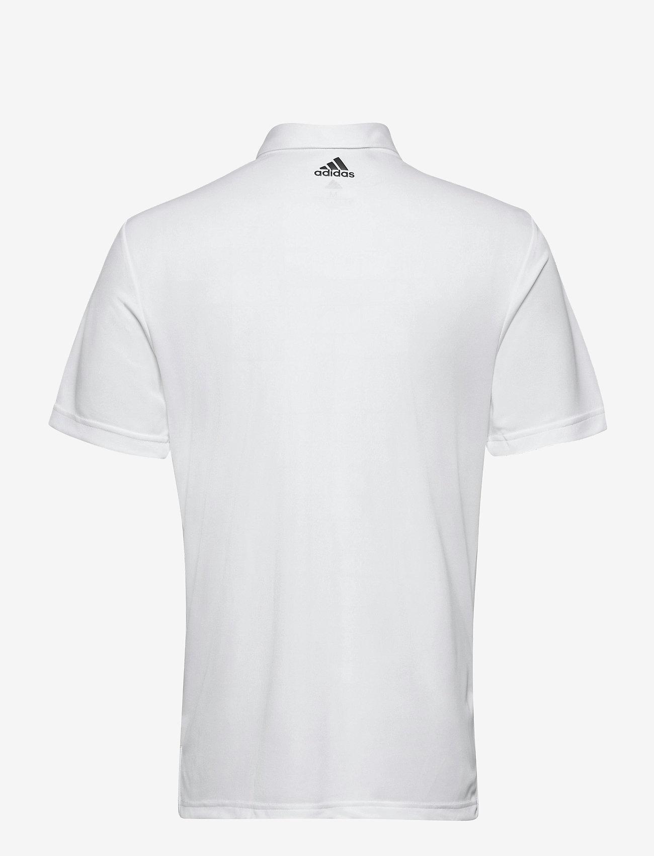 adidas Golf - 3-Stripe Basic - kurzärmelig - white/black - 1