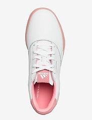adidas Golf - W ADICROSS RETRO - golf shoes - ftwwht/glopnk/ftwwht - 3