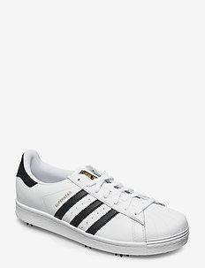 ADIDAS GOLF SUPERSTAR - chaussures de golf - ftwwht/cblack/goldmt
