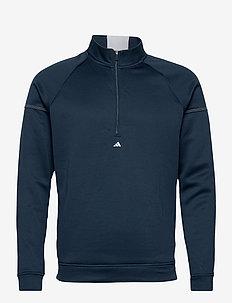 EQPMNT 1/4 Z - golf jackets - crenav/white