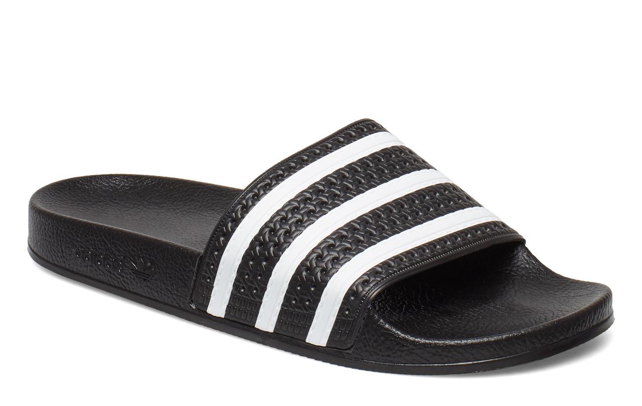 adidas Originals ADILETTE - CBLACK/WHITE/CBLACK