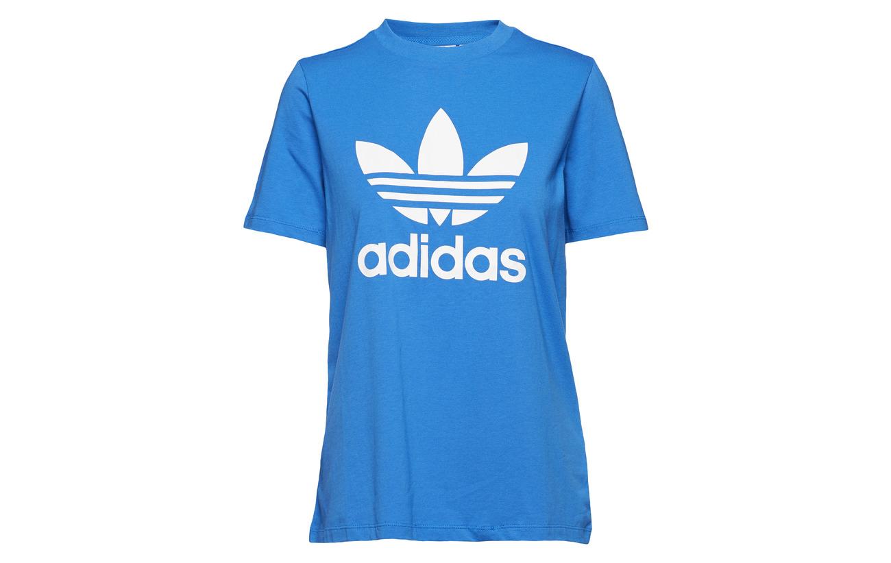 Tee Adidas Elastane Black 5 95 Trefoil Originals white Coton pwqE6rp7x