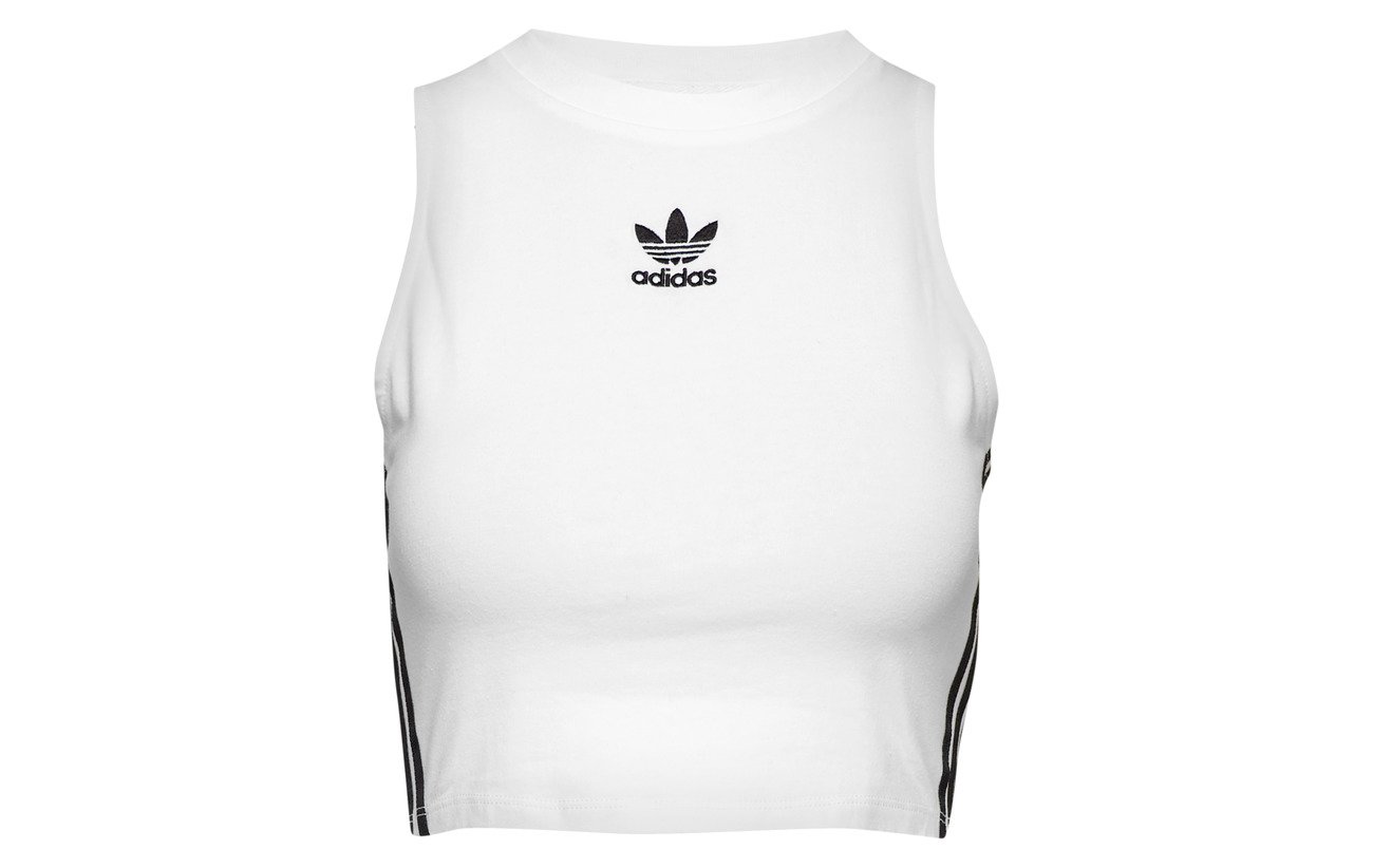 Tank Elastane 95 5 Adidas Coton Originals black White Crop qExTn1CTw