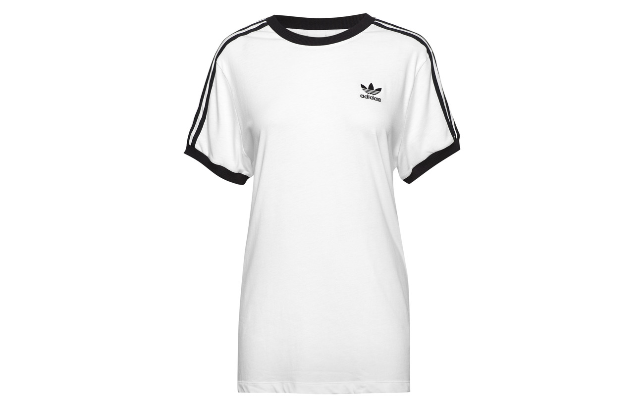 Adidas Coton 100 Stripes Tee Originals 3 Black YrUHYP