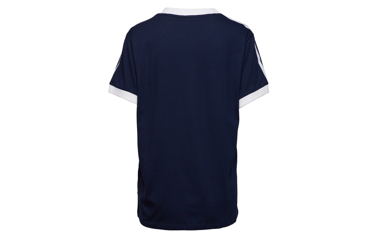 Coton Adidas 100 3 White Stripes Tee Originals wRqAxURO