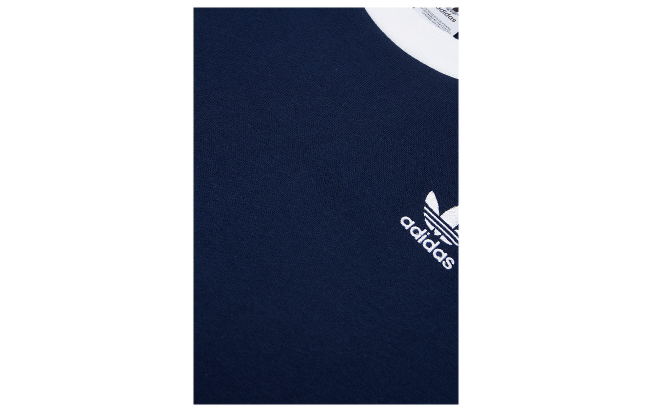 Coton Adidas 3 Stripes Tee 100 Originals Black f4B4YAqW