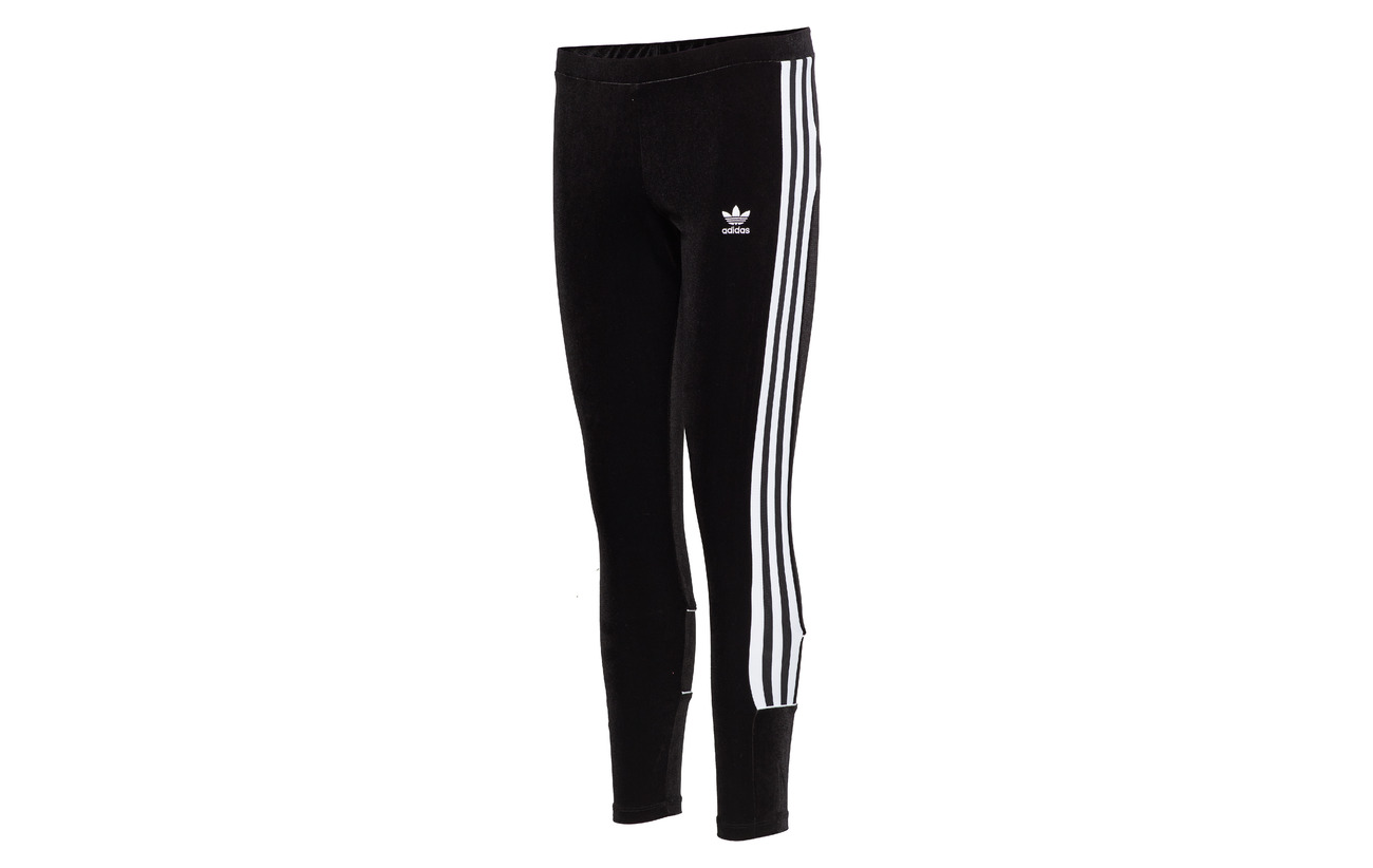 91 Adidas 9 Black Tights Originals Elastane Polyester 744Hpn