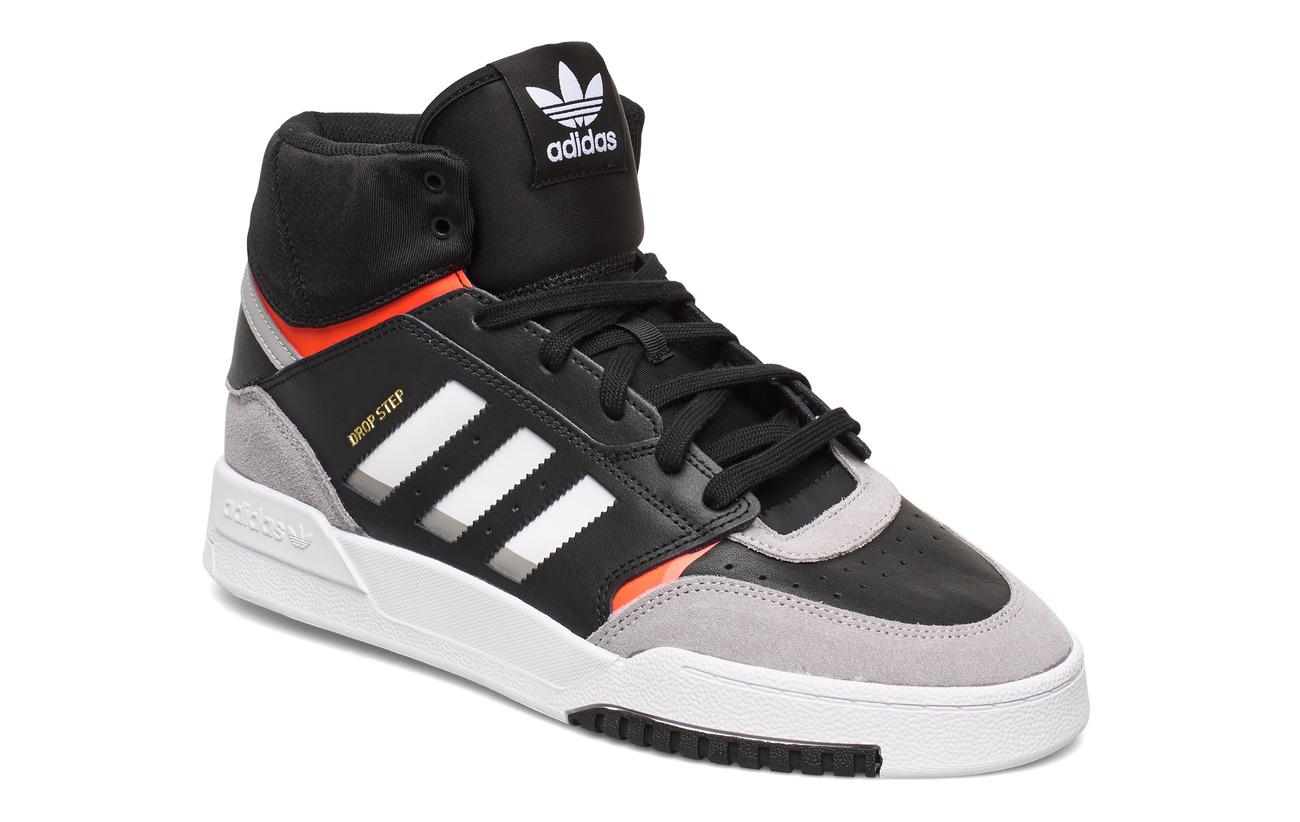 adidas Originals DROP STEP - CBLACK/LGRANI/SOLRED