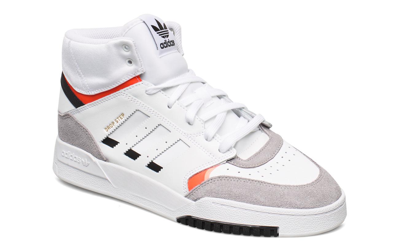 adidas Originals DROP STEP - FTWWHT/LGRANI/SOLRED