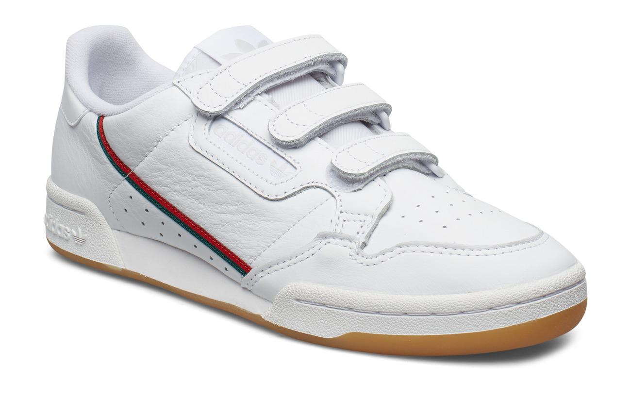 adidas Originals CONTINENTAL 80 STRAP - FTWWHT/CGREEN/SCARLE
