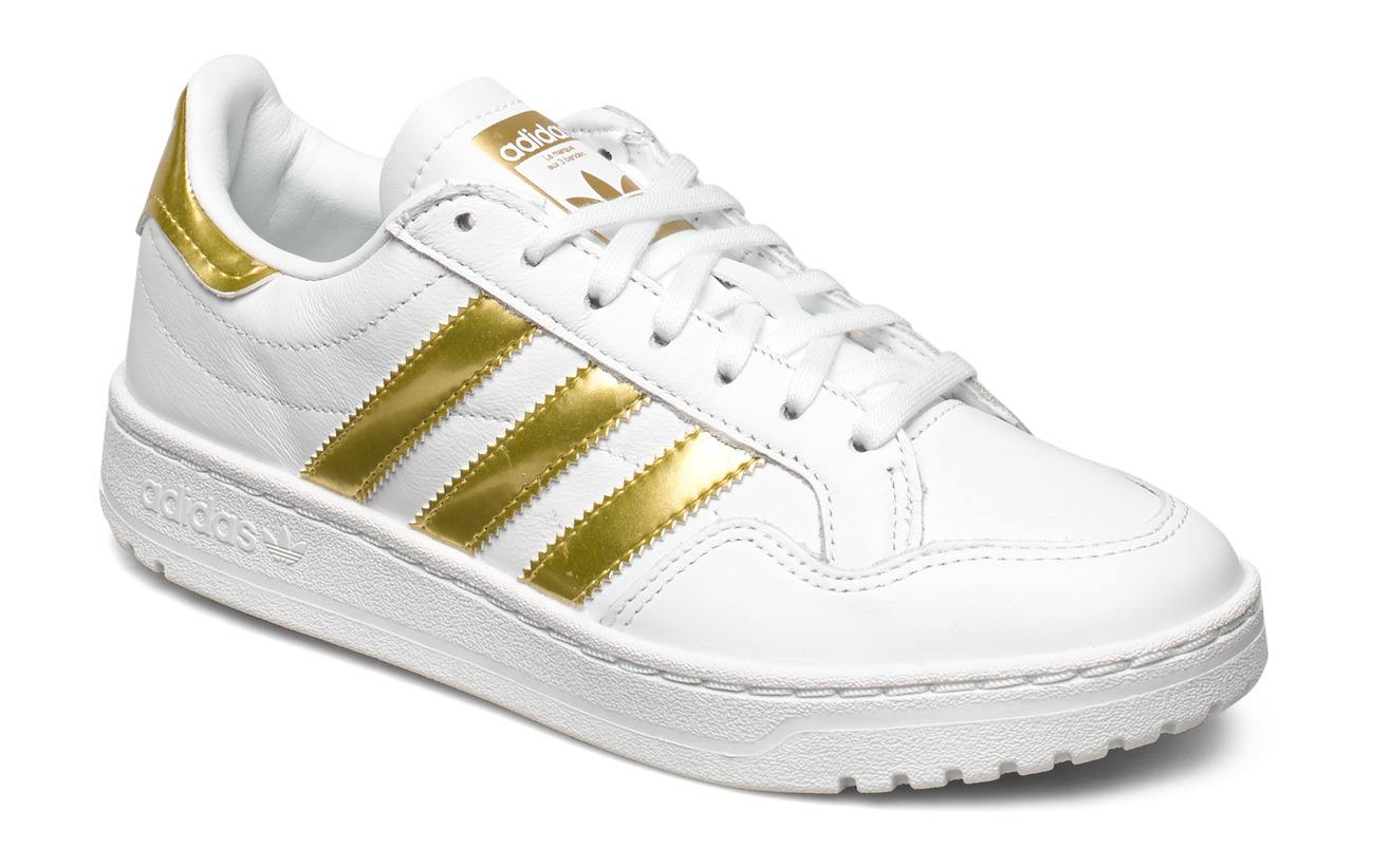 adidas Originals TEAM COURT W - FTWWHT/GOLDMT/FTWWHT