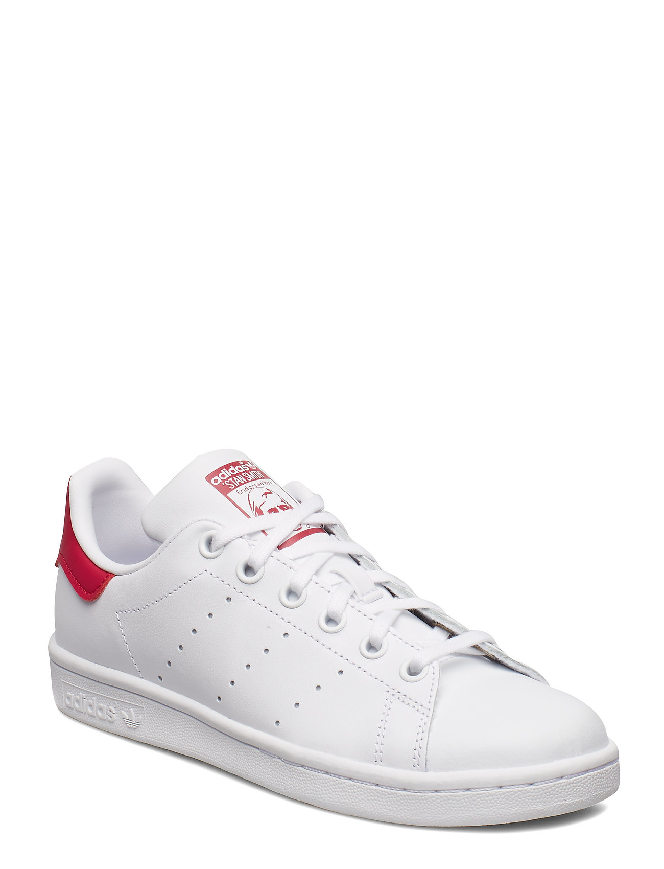 adidas Originals STAN SMITH J - FTWWHT/FTWWHT/BOPINK
