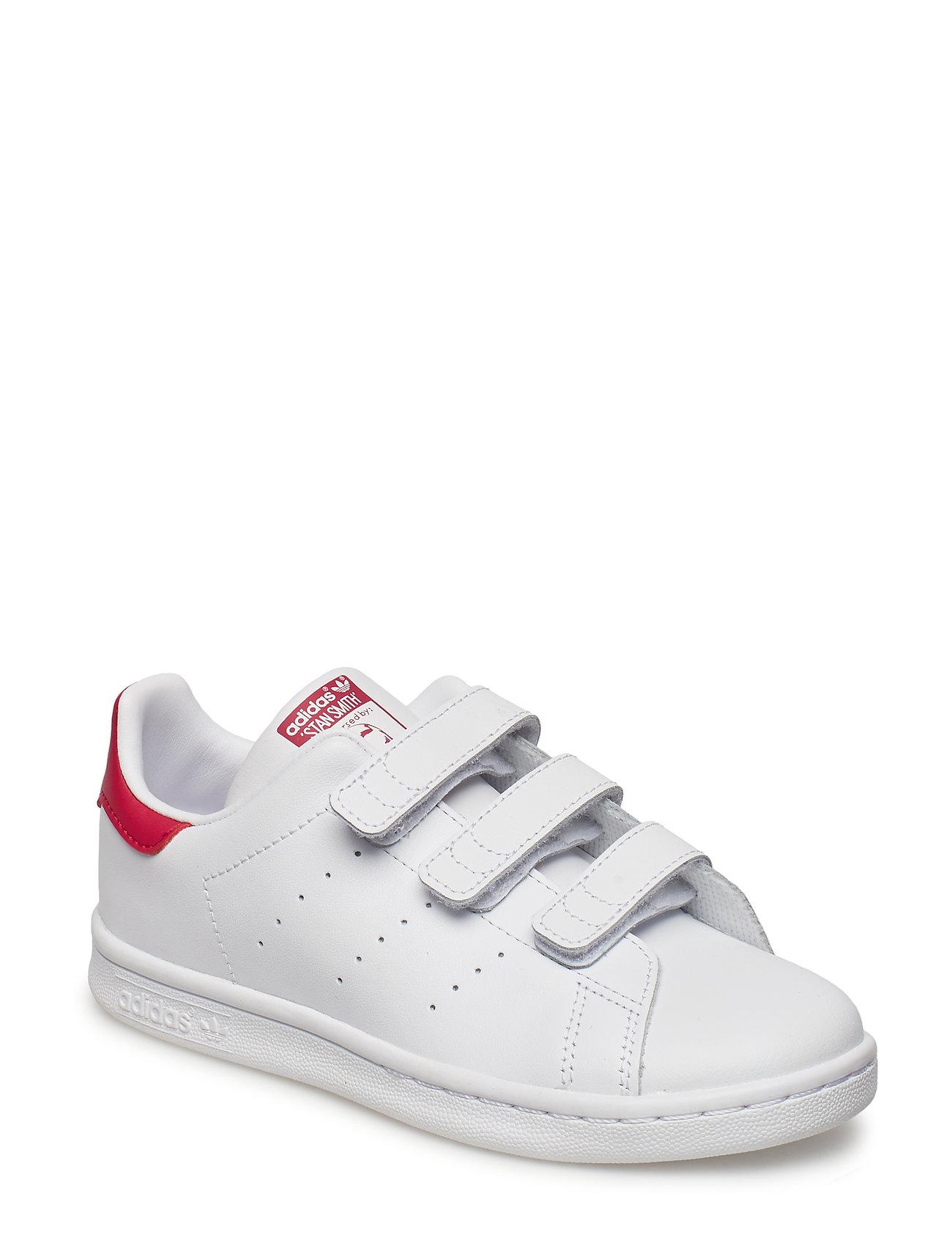 adidas Originals STAN SMITH CF C - FTWWHT/FTWWHT/BOPINK
