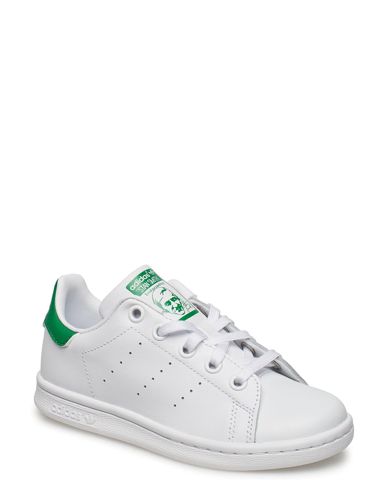 adidas Originals STAN SMITH C - FTWWHT/FTWWHT/GREEN