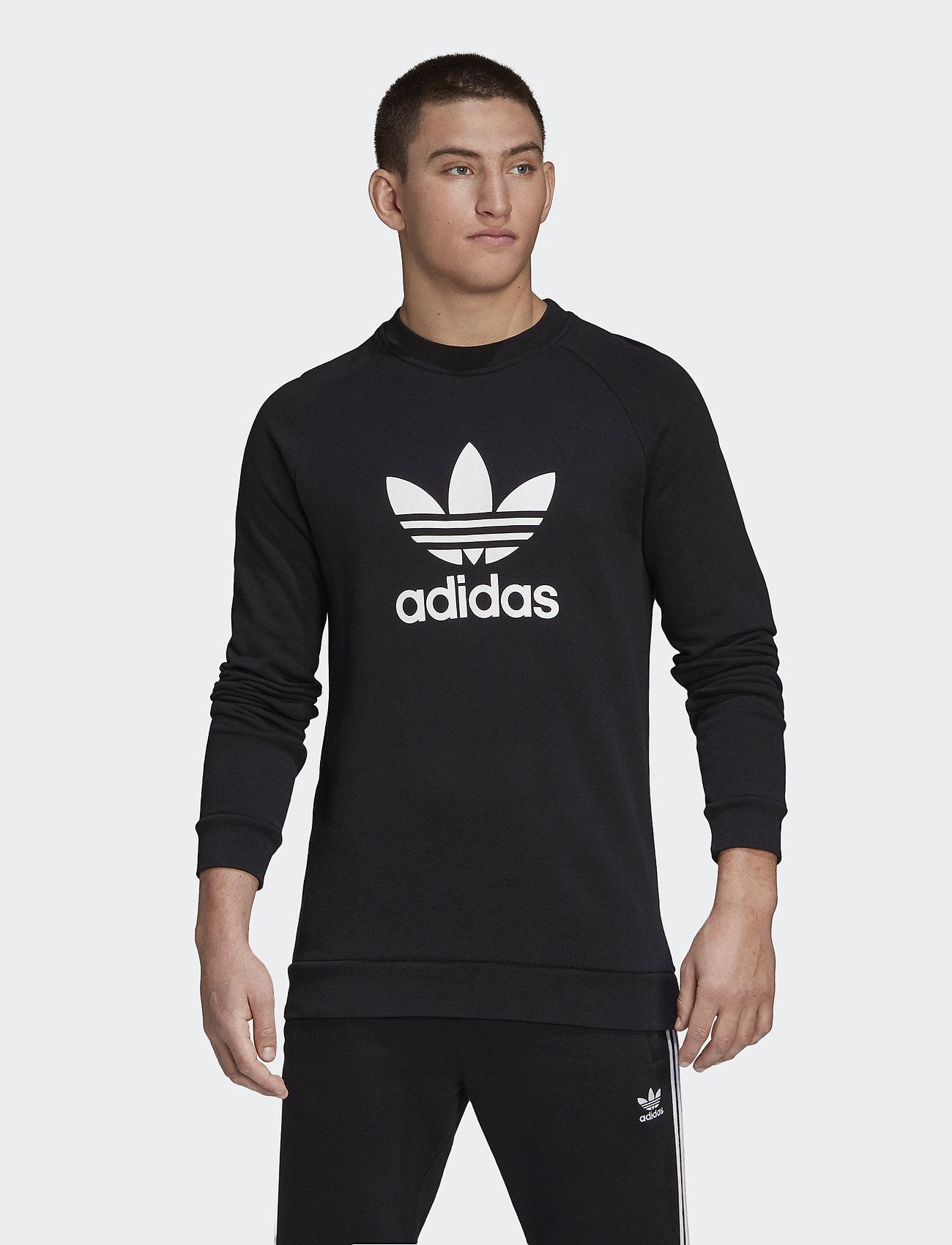 adidas Originals - TREFOIL CREW - overdeler - black - 0