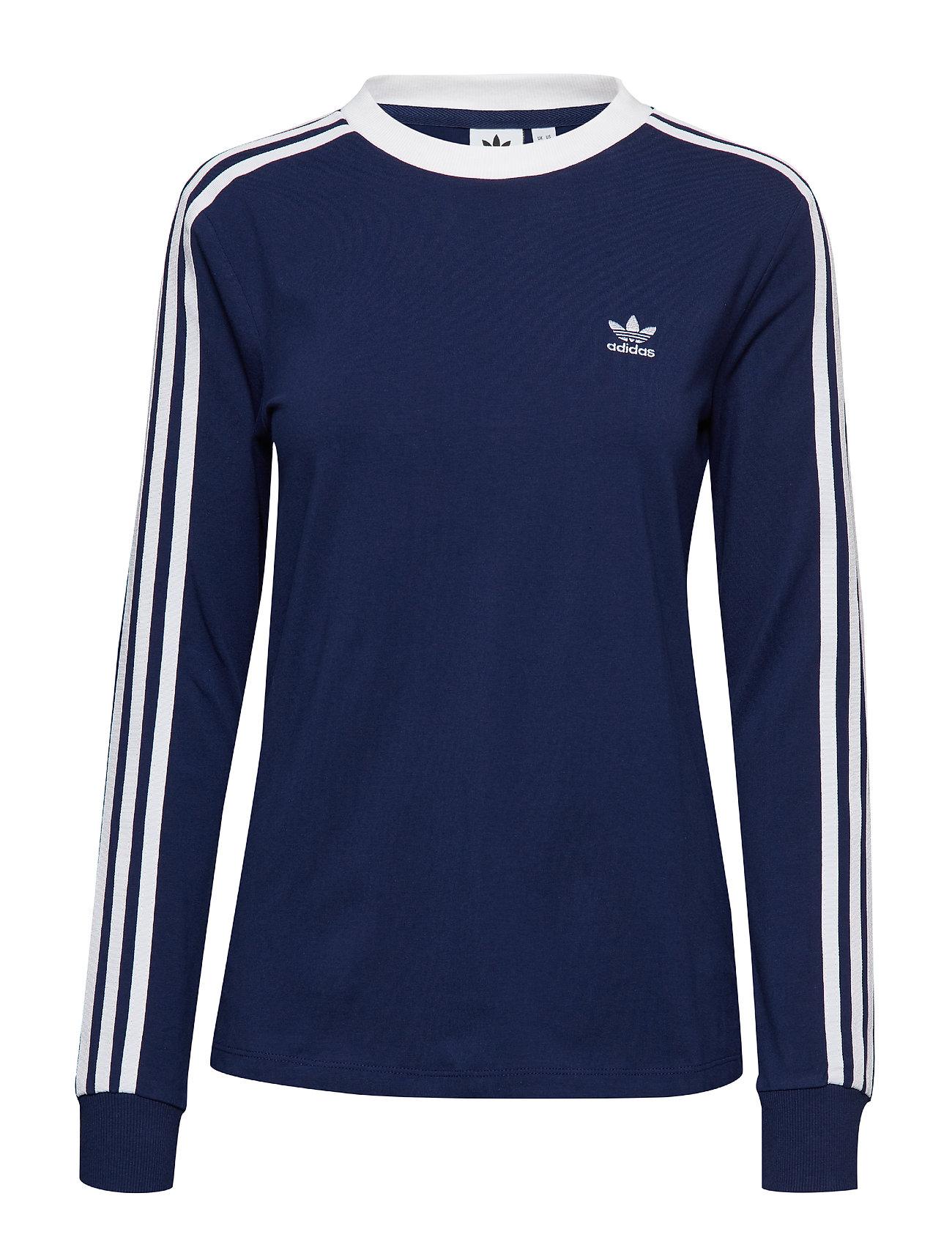 2a5f9d1f23d Adidas langærmede t-shirts & toppe – 3 Str Ls Tee til dame i Sort ...