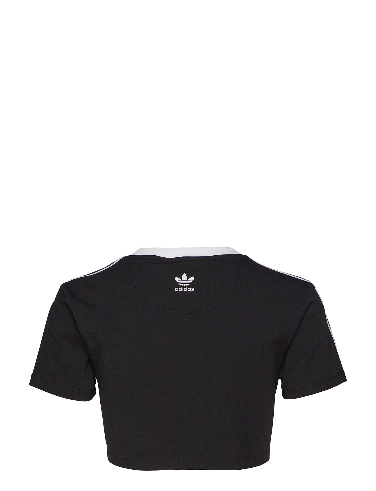 adidas Originals C 3 STRIPES TEE - T-shirty i zopy BLACK - Kobiety Odzież.