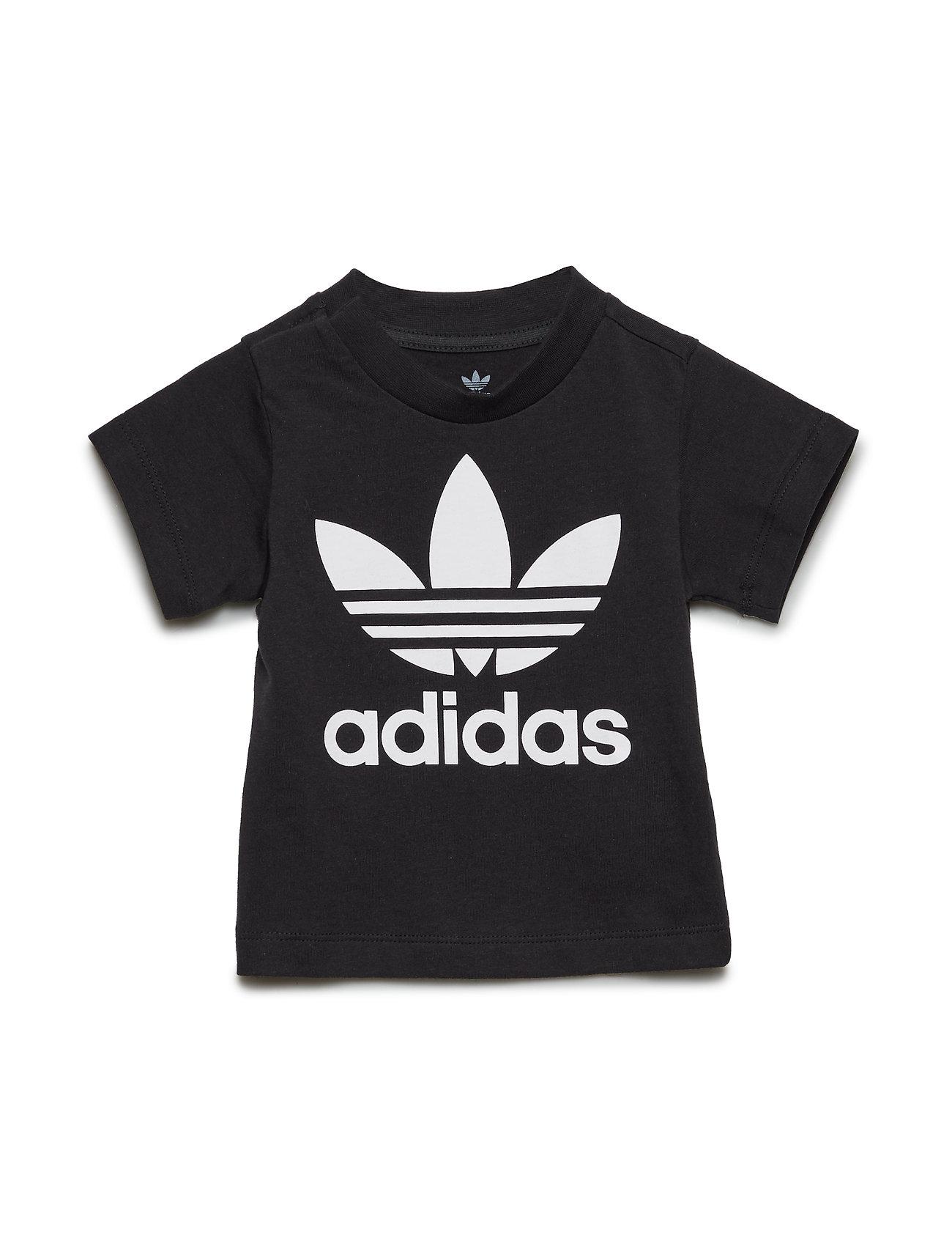 adidas Originals TREFOIL TEE - BLACK/WHITE