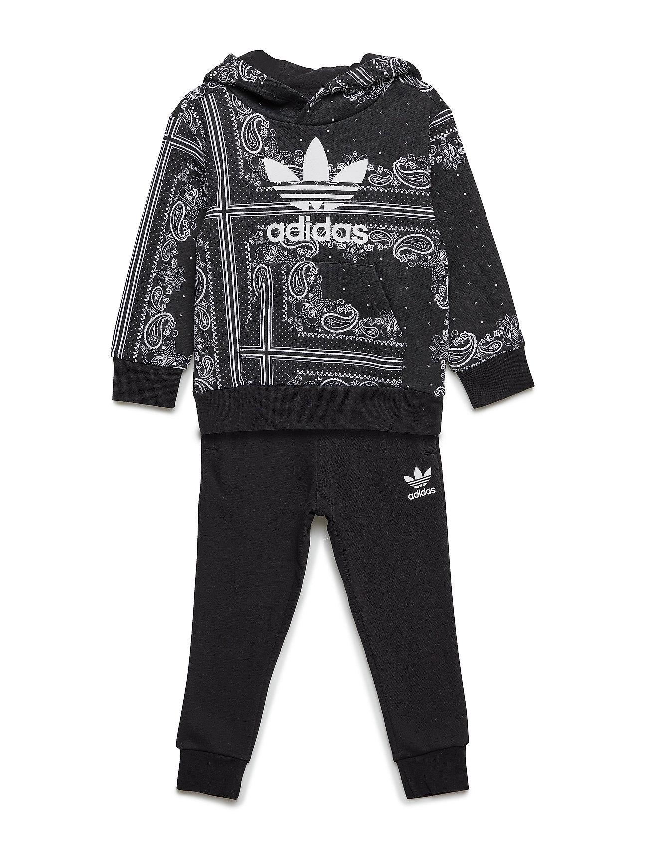 24d4d014 Sort Adidas Bandana Hoodset træningsshorts for børn - Pashion.dk