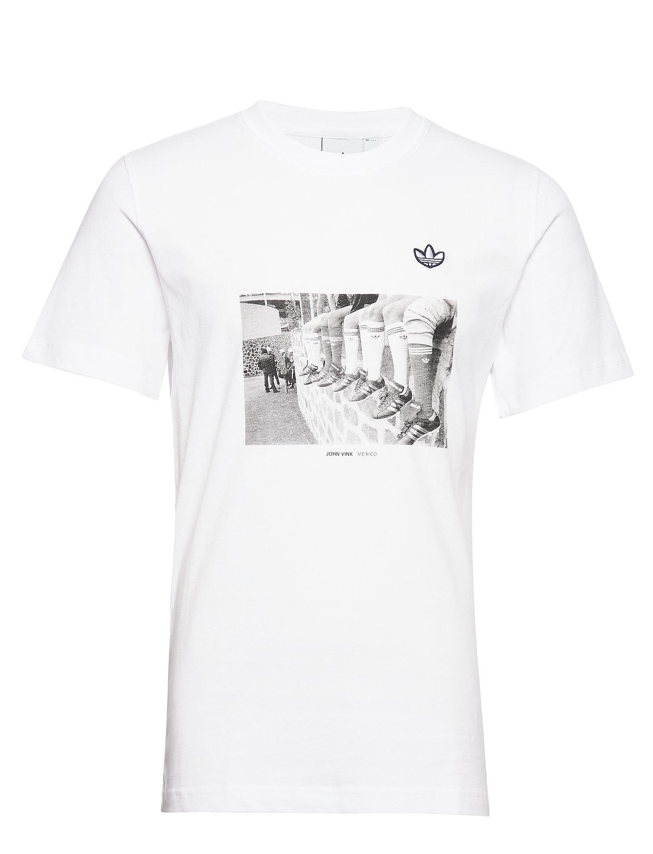 adidas Originals PHOTO TEE - WHITE/WHITE